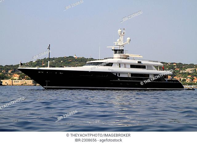 Ester II, a cruiser built by Codecasa, length: 51 meters, built in 2005, Cap Ferrat, French Riviera, France, Europe