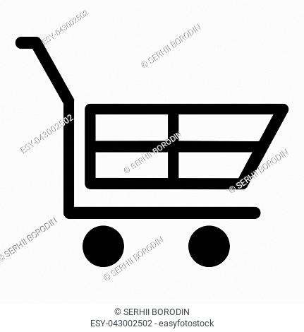 Cart for shopping vector illustration icon black color vector illustration isolated