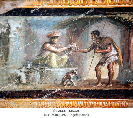 Italy, Naples, Naples Museum, from Pompeii, House of Diodcuri VI 9, 6-7, Merchants