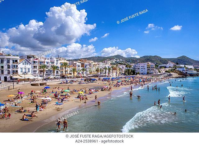 Spain, Catalonia, Sitges City,