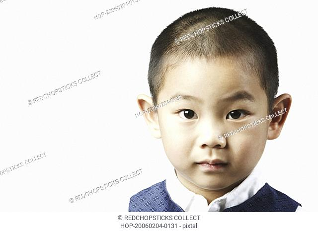 Portrait of a boy looking serious