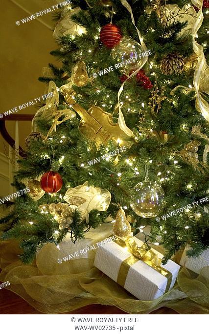 Presents under a Christmas tree, Canada, Ontario