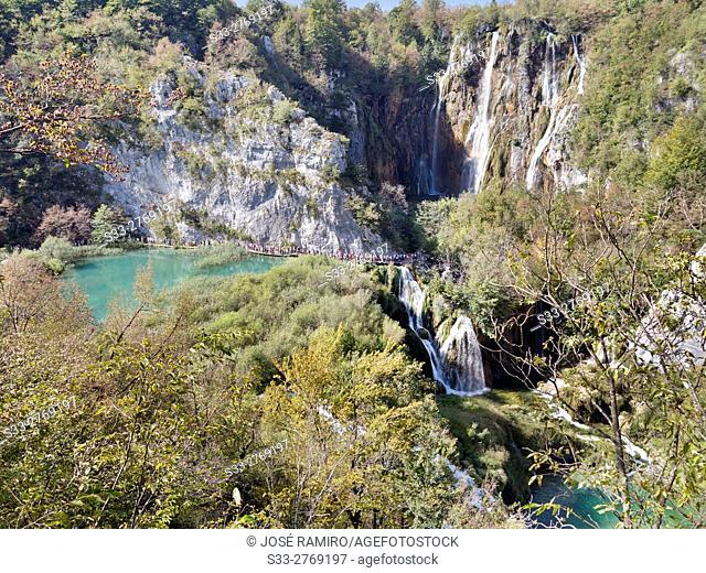 Plitvice Lakes National Park. Croatia. Europe