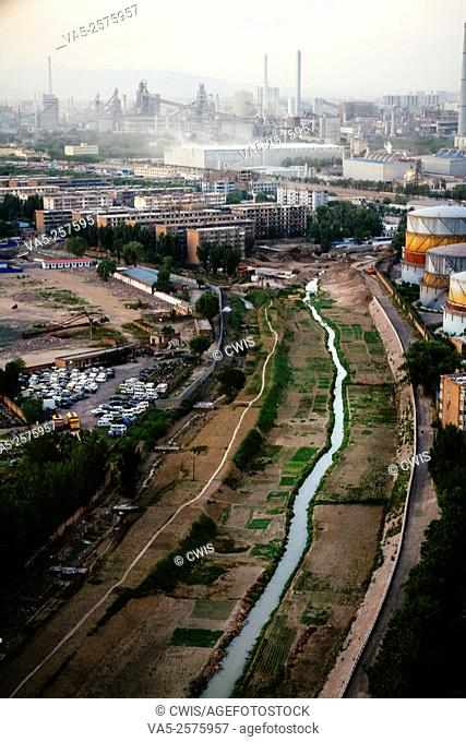 Taiyuan, Shanxi province, China - The view of Taiyuan city in the daytime