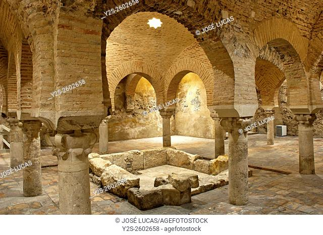 Arab baths -11th century, Jaen, Region of Andalusia, Spain, Europe