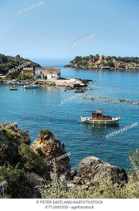 Kardamiyli harbour, in the outer Mani, Southern Peloponnese, Greece
