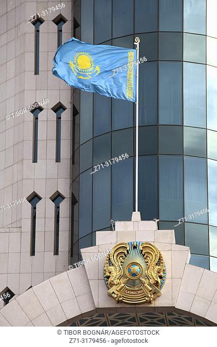 Kazakhstan; Astana, Senate, national flag,