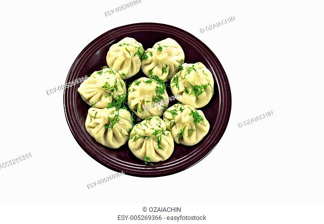 Russian national ravioli with dill