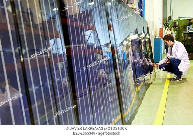 Roof panels with solar cells. Research and development of solar panels. Research in alternative energy. Donostia. San Sebastian . Gipuzkoa
