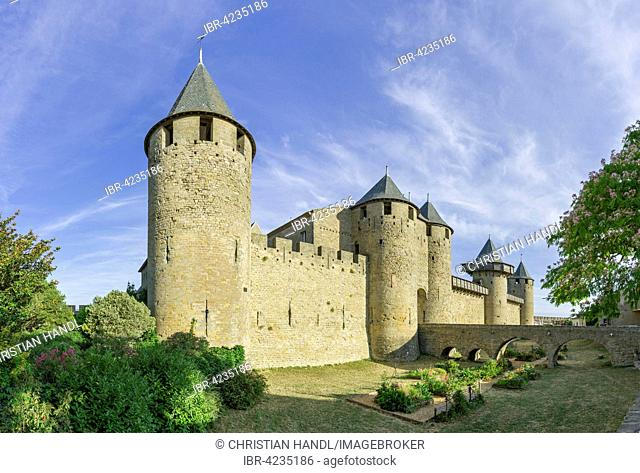 Castle of the Counts, Château Comtal, Cité de Carcassonne, Languedoc-Roussillon, France