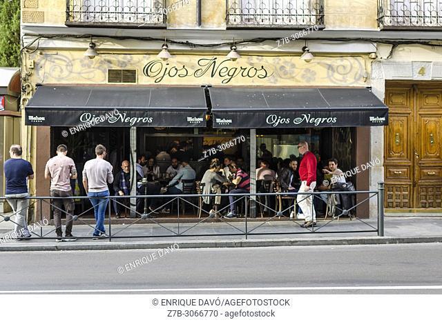 Bar in Latina area, Madrid city, Spain