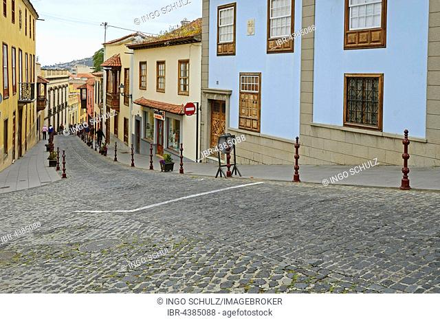 Typical alley in La Orotava, Tenerife, Canary Islands, Spain