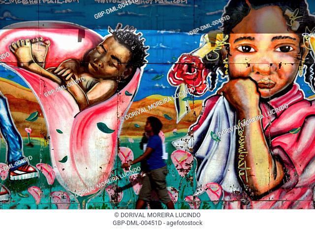 Grafite, Praça da Sé, Salvador, Bahia, Brazil