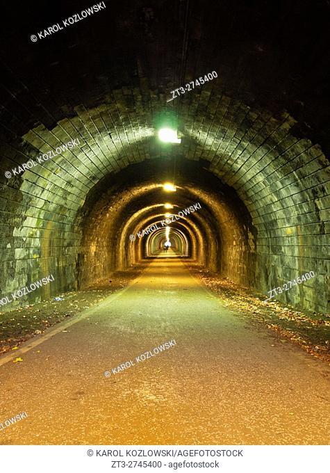 UK, Scotland, Lothian, Edinburgh, Innocent Railway Tunnel.