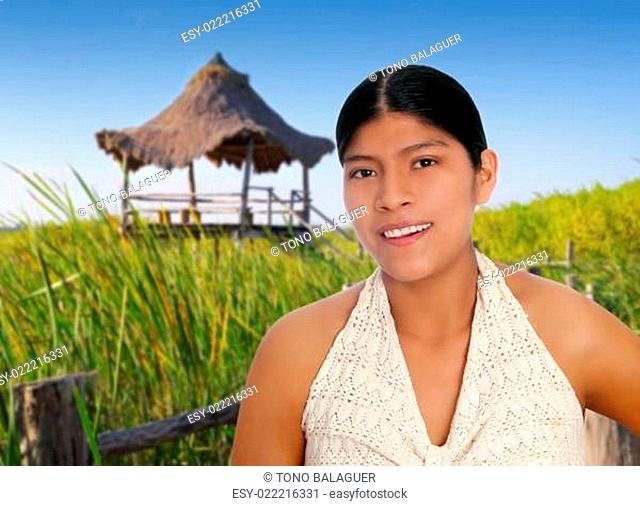 Latin hispanic mayan woman portrait