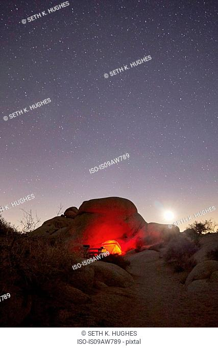 Campsite at Joshua Tree National Park, California