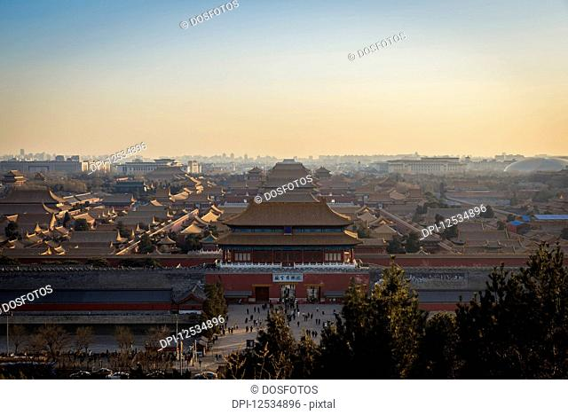 Views of the Forbbiden City and beyond from Jingshan Park; Beijing, China