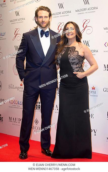 Celebrities attend The Global Gift Gala at Waldorf Astoria in Edinburgh. Featuring: Craig McGinlay, Maria Bravo Where: Edinburgh