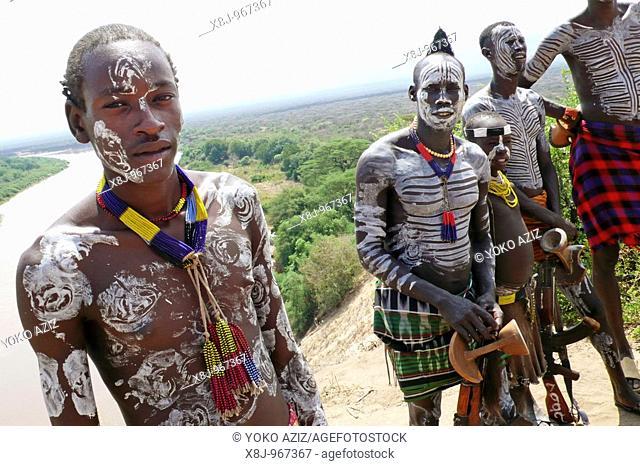 ethiopia, omo valley, qercio, karo village