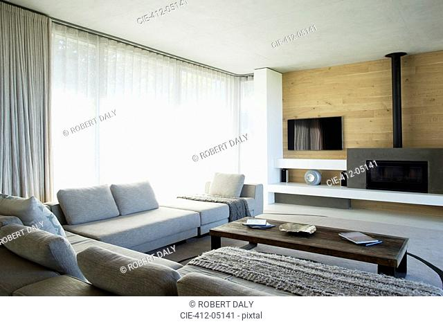 Sofas and table in modern living room