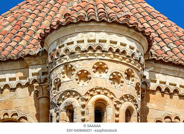 Top of Tordesillas church tower and roof