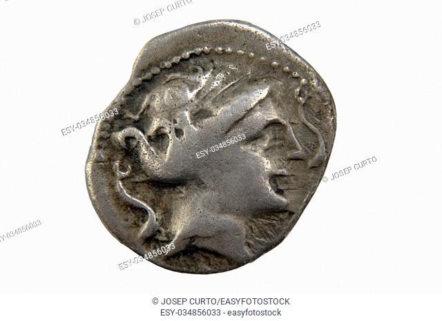 Roman silver denarius