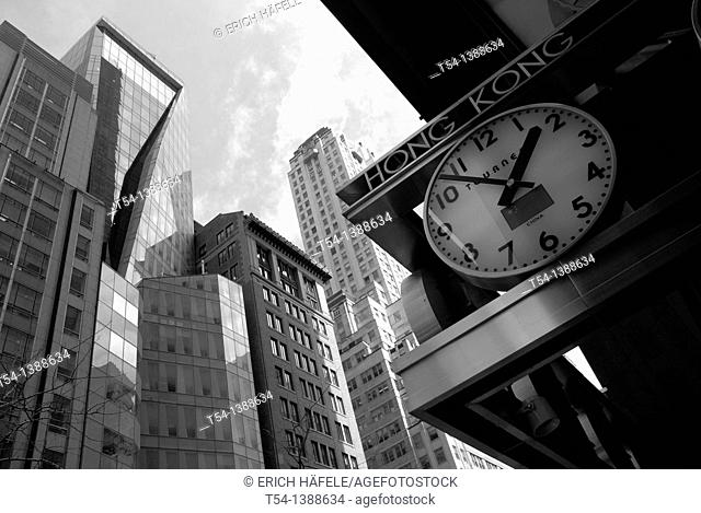 Clock with Hong Kong Time in New York