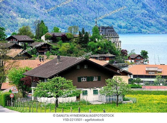 Iseltwald - village and resort on the southern shore of Lake Brienz, canton Bern, Bernese Oberland, Switzerland