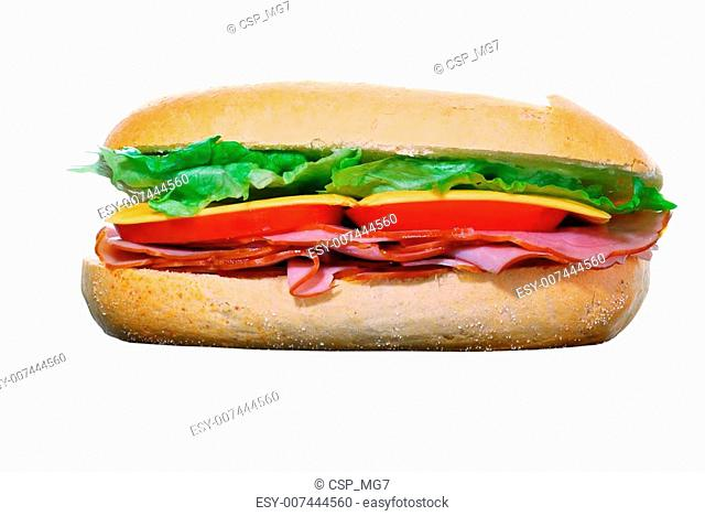 Ham and cheese Sandwich isolated