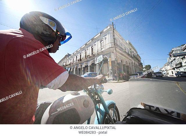 Sidecar taxi, Havana, Cuba