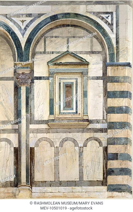 The Baptistery, Florence. Study of the upper Part of the right-hand Compartment on the south-west Facade. John Ruskin