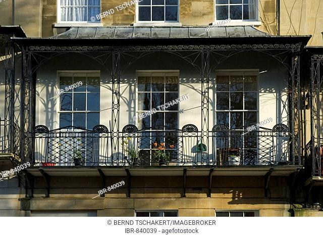 Victorian balcony, Bristol, England, Great Britain, Europe