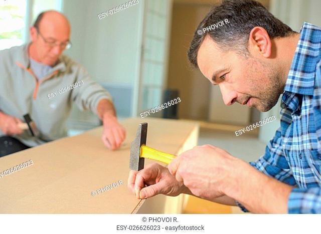 Carpetners at work