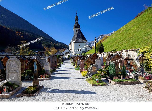 Church of St. Sebastian at Ramsau, Berchtesgaden, Bavaria, Germany