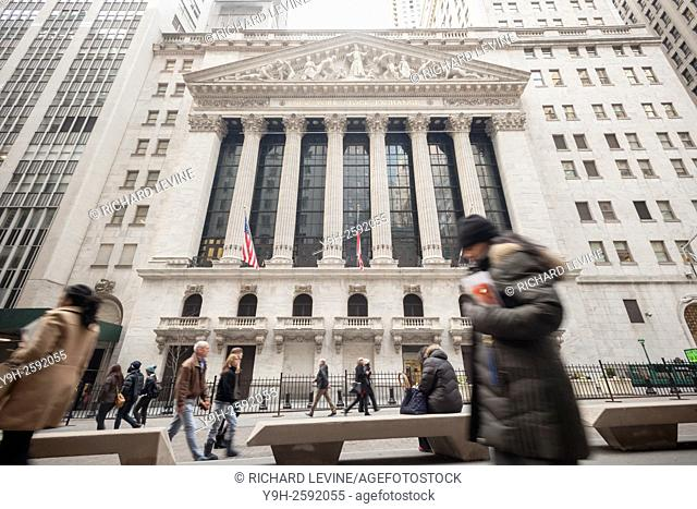 The front of the New York Stock Exchange