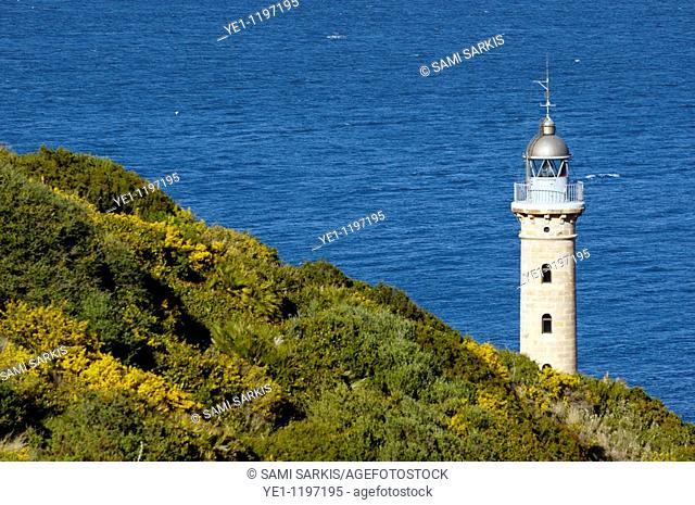 Lighthouse at Punta Carnero, a headland near Algeciras, Andalusia, Spain