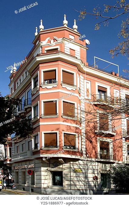 Building -widening area, Badajoz, Spain