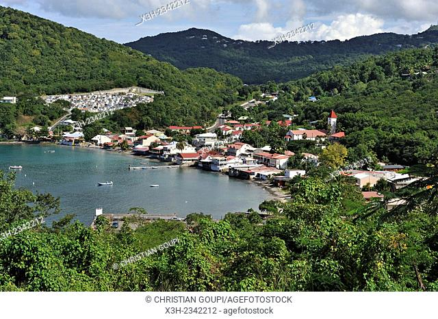 Deshaies, coastal village on Basse-Terre, Guadeloupe, overseas region of France, Leewards Islands, Lesser Antilles, Caribbean