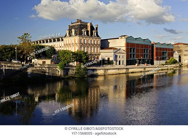 The cognac house of Courvoisier is established on the banks of the Charente river in the town of Jarnac, Charente, France