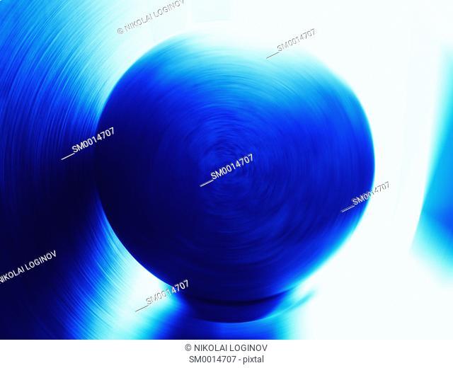 Horizontal blue rotating globe illustration background