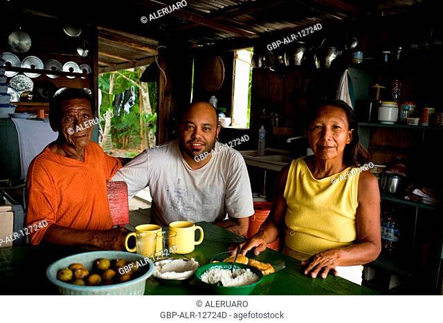 People, Meals, Cuieiras River, Amazônia, Manaus, Amazonas, Brazil