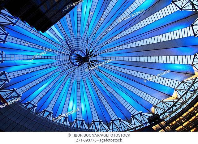 Germany, Berlin, Potsdamer Platz, Sony Center interior, modern architecture