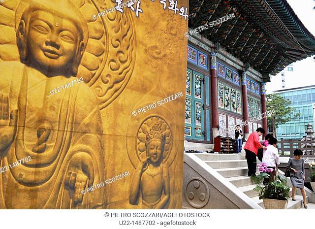 Seoul (South Korea): the Jogyesa Temple