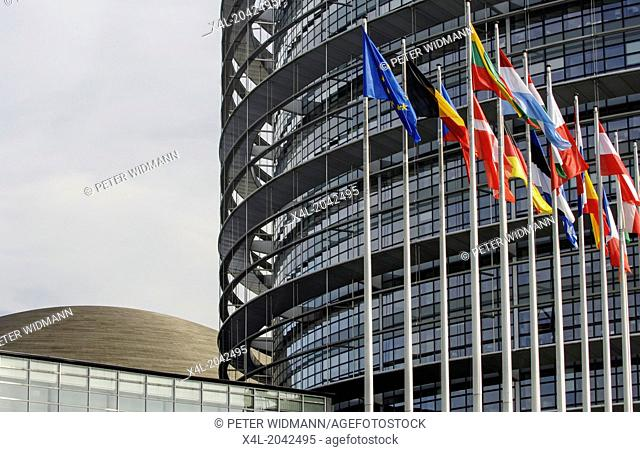 Strasbourg, European Parliament, France, Elsass, Strassburg