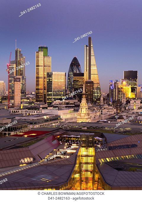 europe, UK, England, London, City skyline from St Pauls