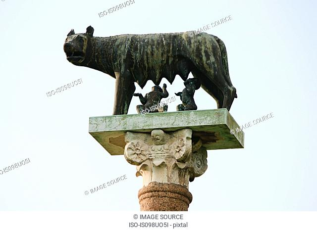 Statue of Romulus and Remus and the wolf, Pisa, Italy