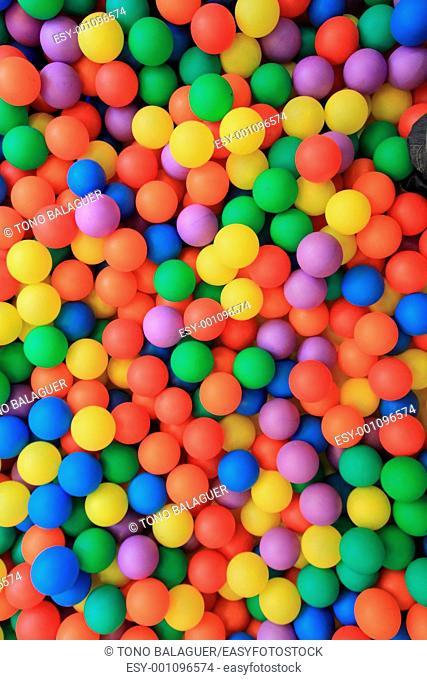 colorful plastic balls in children park background
