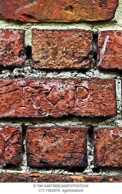 brick wall detail ,sandwich,kent,england,uk,europe