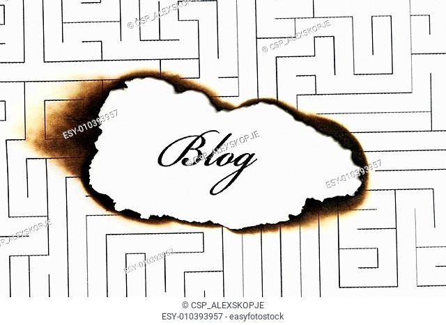 Blog and maze concept
