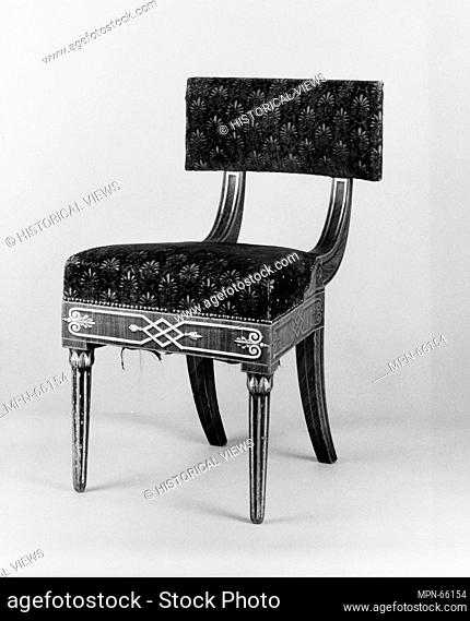 Side Chair. Date: 1815-30; Geography: Probably made in Philadelphia, Pennsylvania, United States; Culture: American; Medium: Ash